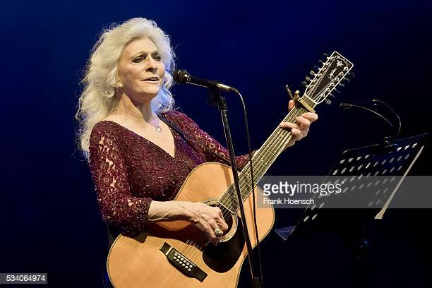 American singer Judy Collins performs live during a tribute concert to Bob Dylan at the Wintergarten on May 24, 2016 in Berlin, Germany.