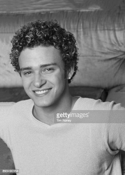 American singer Justin Timberlake of boy band NSYNC portrait United Kingdom 1997