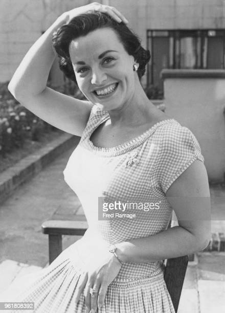 American singer Kay Starr at the Dorchester Hotel in London, during a reception in her honour, 13th August 1953. She is appearing at the London...