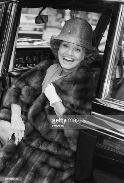 American singer Kay Starr stepping out of a car, London, UK, 13th November 1983.