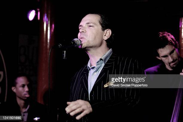 American singer Kurt Elling performs live on stage at PizzaExpress Jazz Club in Soho London on 23rd October 2006