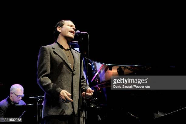 American singer Kurt Elling performs live on stage at Queen Elizabeth Hall in London on 18th November 2008
