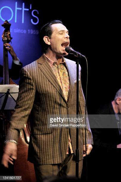 American singer Kurt Elling performs live on stage at Ronnie Scott's Jazz Club in Soho London on 30th June 2010