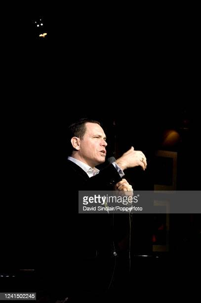 American singer Kurt Elling performs live on stage at Ronnie Scott's Jazz Club in Soho London on 15th April 2013