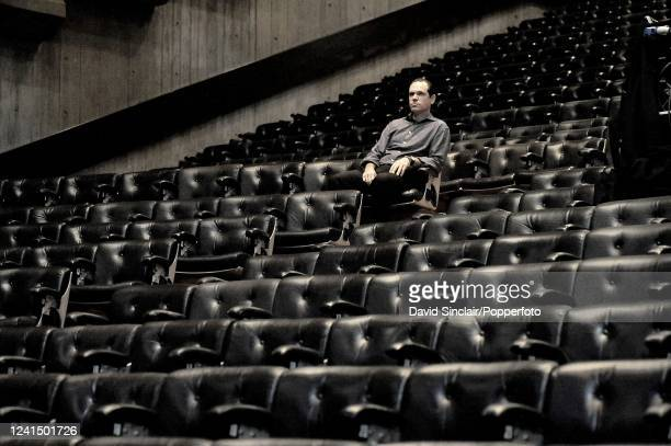American singer Kurt Elling seated in the auditorium at Queen Elizabeth Hall in London on 18th November 2008