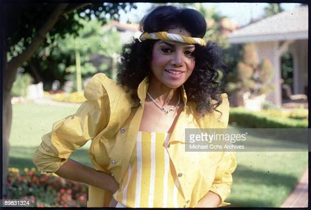 American singer La Toya Jackson 1986