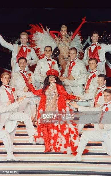 American singer La Toya Jackson performs her own revue, 'Formidable', at the Moulin Rouge cabaret in Paris, France, 6th March 1992.