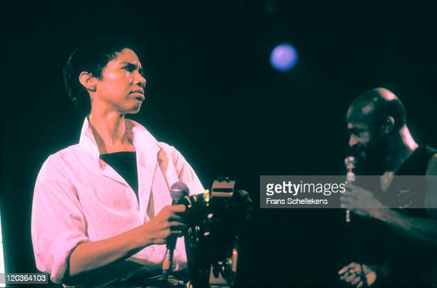 American singer Linda Womack performs live on stage at Paradiso in Amsterdam Netherlands on 26th February 1988