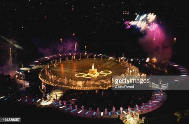 American singer Lionel Richie performs a nineminute version of his song 'All Night Long' at the closing ceremony of the 1984 Summer Olympics at the...
