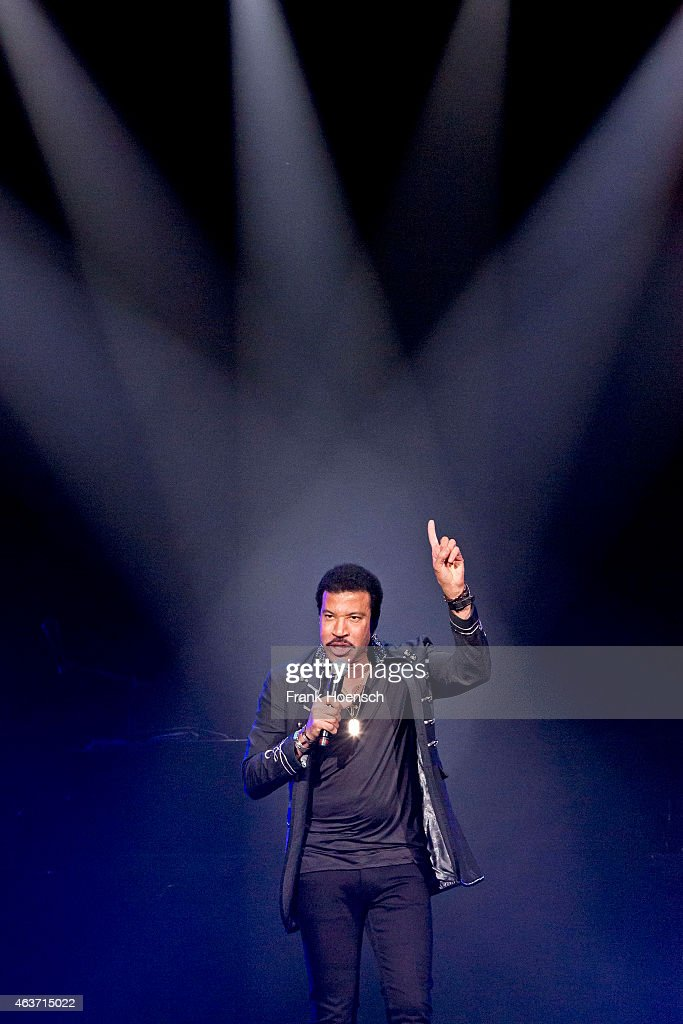 American singer Lionel Richie performs live during a concert at the O2 World on February 17, 2015 in Berlin, Germany.