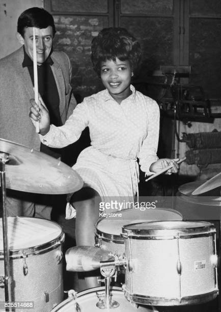 American singer Little Eva rehearsing for a show at the Olympia music hall in Paris France 3rd April 1963