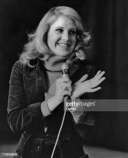 American singer Lorna Luft rehearsing for her upcoming debut at the Palladium in London England on February 12 1976