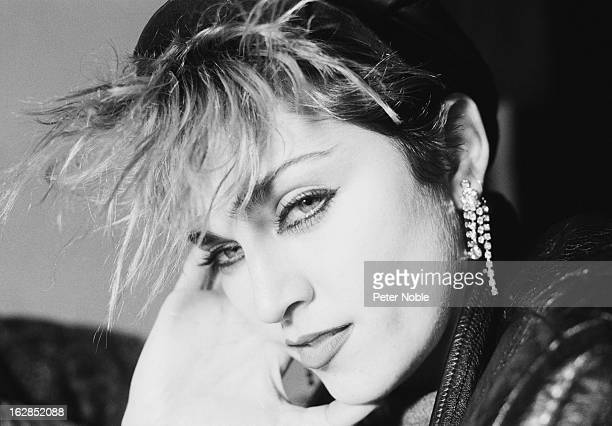 American singer Madonna in a loft on Canal Street New York City December 1982