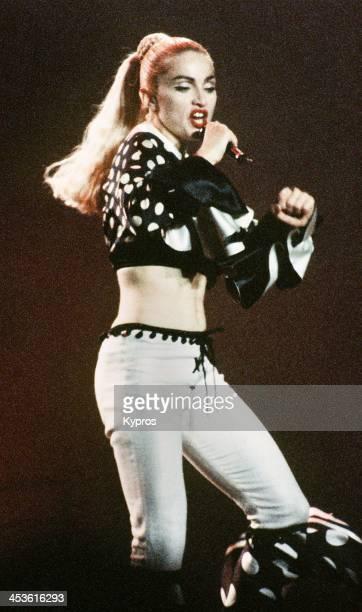 American singer Madonna in concert circa 1990