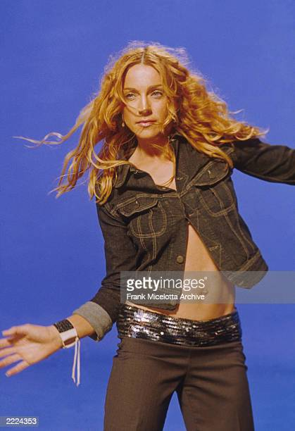American singer Madonna on the set of her 'Ray of Light' video September 12 1998