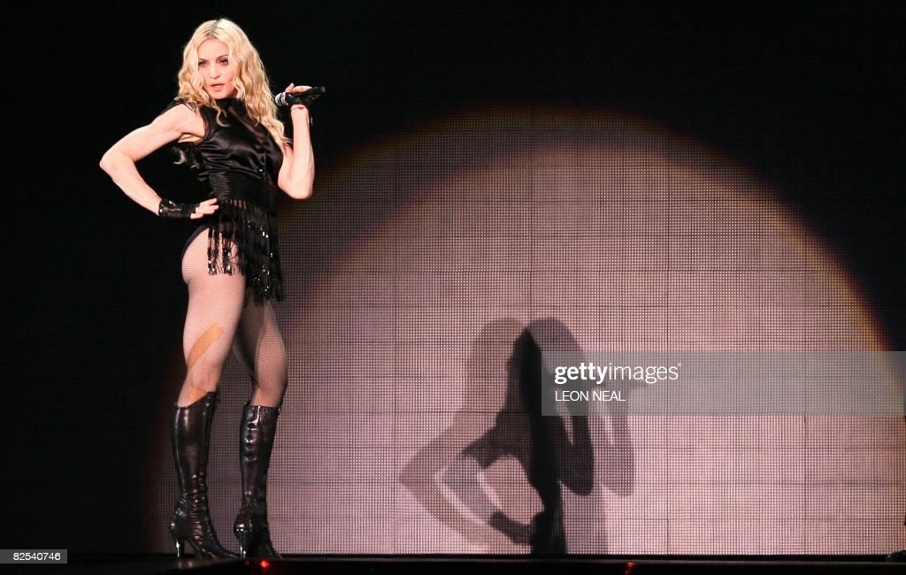 American singer Madonna performs onstage : News Photo