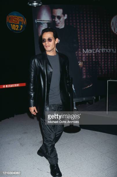 American singer Marc Anthony attending a record signing in Los Angeles US 1999