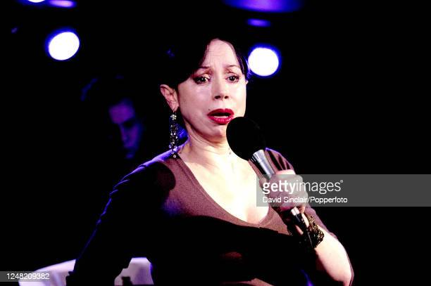 American singer Maria Ewing performs live on stage at PizzaExpress Jazz Club in Soho London on 13th October 2004