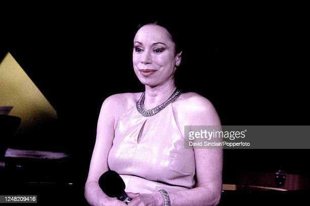 American singer Maria Ewing performs live on stage at PizzaExpress Jazz Club in Soho London on 28th May 2003
