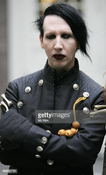 American singer Marilyn Manson poses for a portrait session to announce the making of the movie Phantasmagoria during the 56th Berlin International...