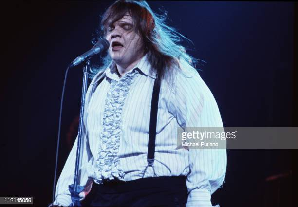 American singer Meat Loaf performing on stage during the Bat Out Of Hell Tour USA March 1978