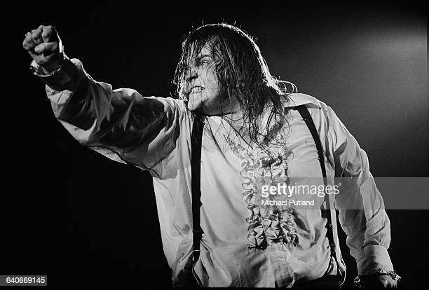 American singer Meat Loaf performing on stage during the Bat Out Of Hell Tour USA September 1978