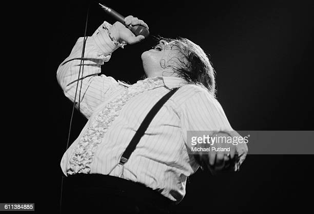 American singer Meat Loaf performing on the Bat Out Of Hell Tour USA March 1978