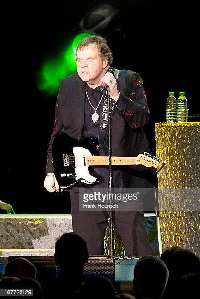 American singer Meat Loaf performs live during a concert at the O2 World on April 28 2013 in Berlin Germany