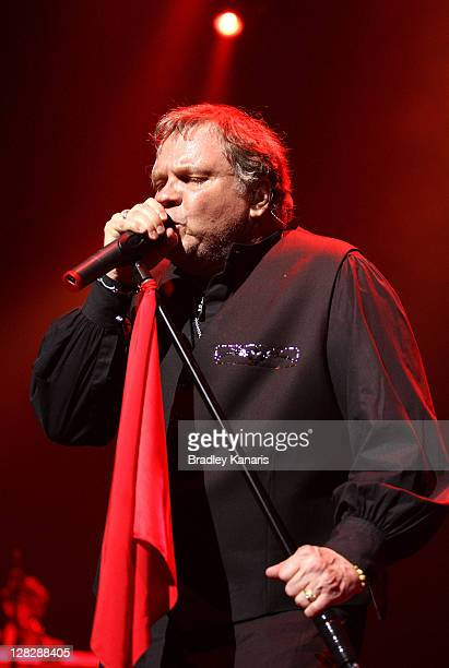 American singer Meat Loaf performs live on stage at the Brisbane Entertainment Centre on October 6 2011 in Brisbane Australia