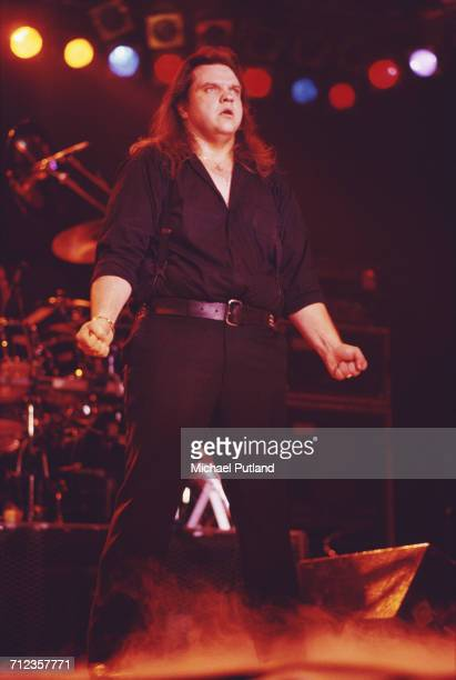 American singer Meat Loaf performs live on stage circa 1985