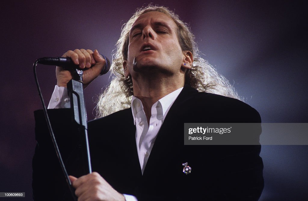 American singer Michael Bolton performs on stage in 1996.