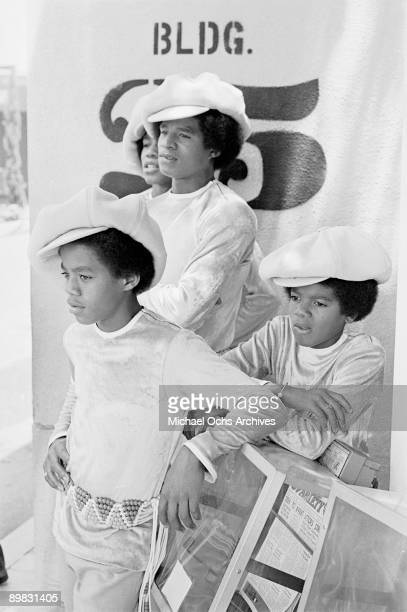 American singer Michael Jackson and part of the Jackson Five at the ABC Studios 9th July 1971