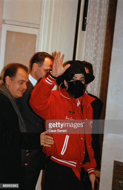 American singer Michael Jackson arrives at the Lanesborough Hotel London before attending the Brit Awards ceremony 16th February 1996