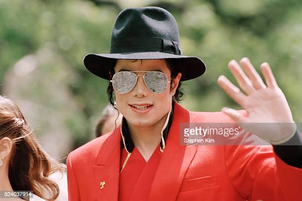 American singer Michael Jackson at his California home