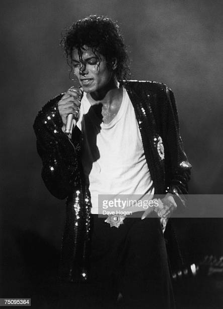 American singer Michael Jackson performing 1987