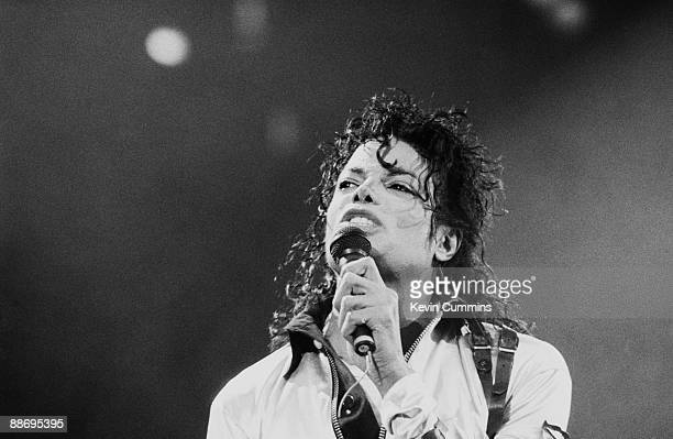 American singer Michael Jackson performs at Wembley during the Bad tour 14th July 1988