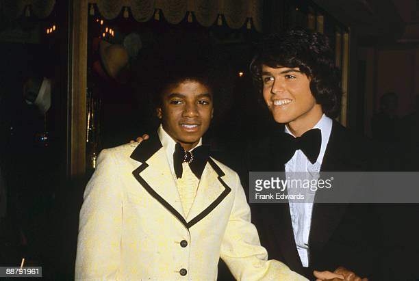 American singer Michael Jackson poses with Donny Osmond at the American Music Awards in Hollywood 19th February 1974