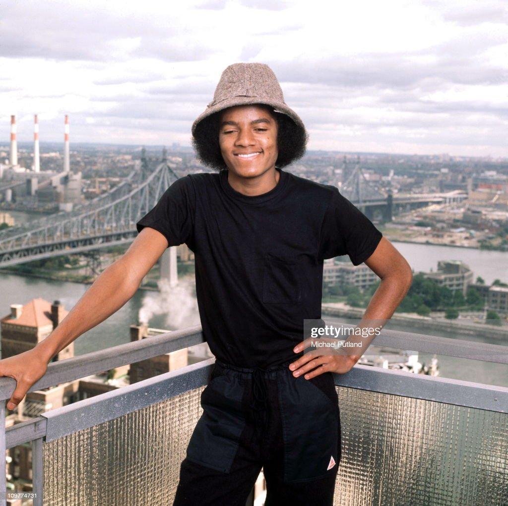 American singer Michael Jackson (1958 - 2009) posing in New York in 1977.