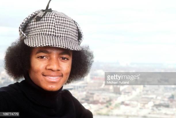 American singer Michael Jackson posing in New York in 1977