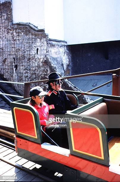 American singer Michael Jackson visits the funfair at theTivoli Gardens in Copenhagen Denmark on July 21 1992