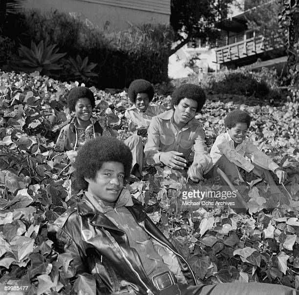American singer Michael Jackson with the Jackson Five in Los Angeles circa 1971