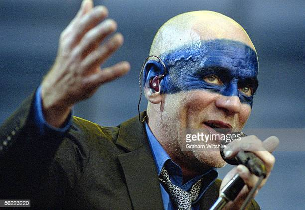 American singer Michael Stipe of REM performing in Hyde park London 16th June 2005