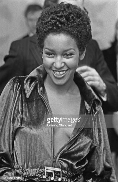 American singer, model and actress Marsha Hunt, UK, 29th January 1974.