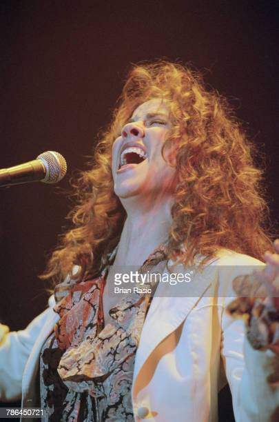 American singer musician and songwriter Sheryl Crow performs live on stage at Wembley Arena in London on 5th December 1994