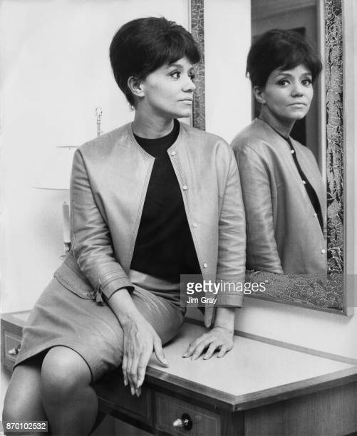 American singer Nancy Holloway in London where she is set to appear on the television show 'On The Braden Beat' 16th February 1967