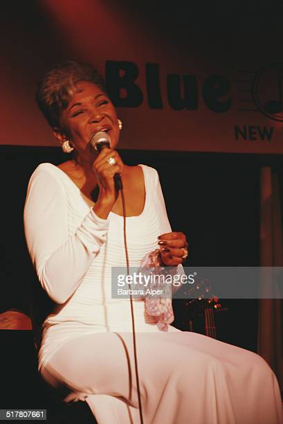 American singer Nancy Wilson performing on stage at the Blue Note Jazz Club New York City USA circa 2001