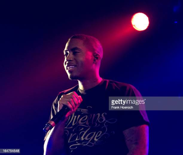 American singer NAS performs during a concert at the Astra on March 27 2013 in Berlin Germany