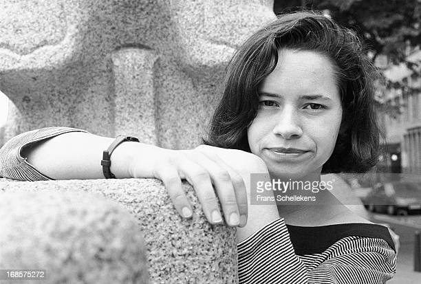 American singer Natalie Merchant from 10000 Maniacs posed in Amsterdam Netherlands on 30th June 1988