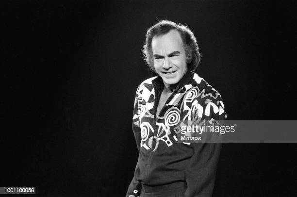 American singer Neil Diamond in concert at the NEC Arena Birmingham 8th November 1989
