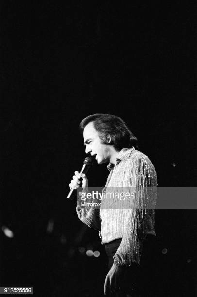 American singer Neil Diamond in concert at the NEC Arena Birmingham 2nd July 1984
